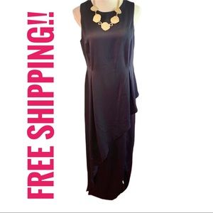 NWT ASOS Navy Blue Sleeveless Maxi Dress Sz 12